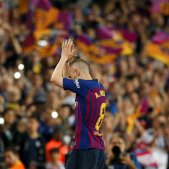 Andres Iniesta comiat Barça camp   EFE