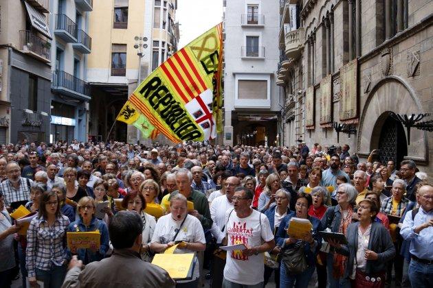 Manifestación contra 155 Lleida ACN
