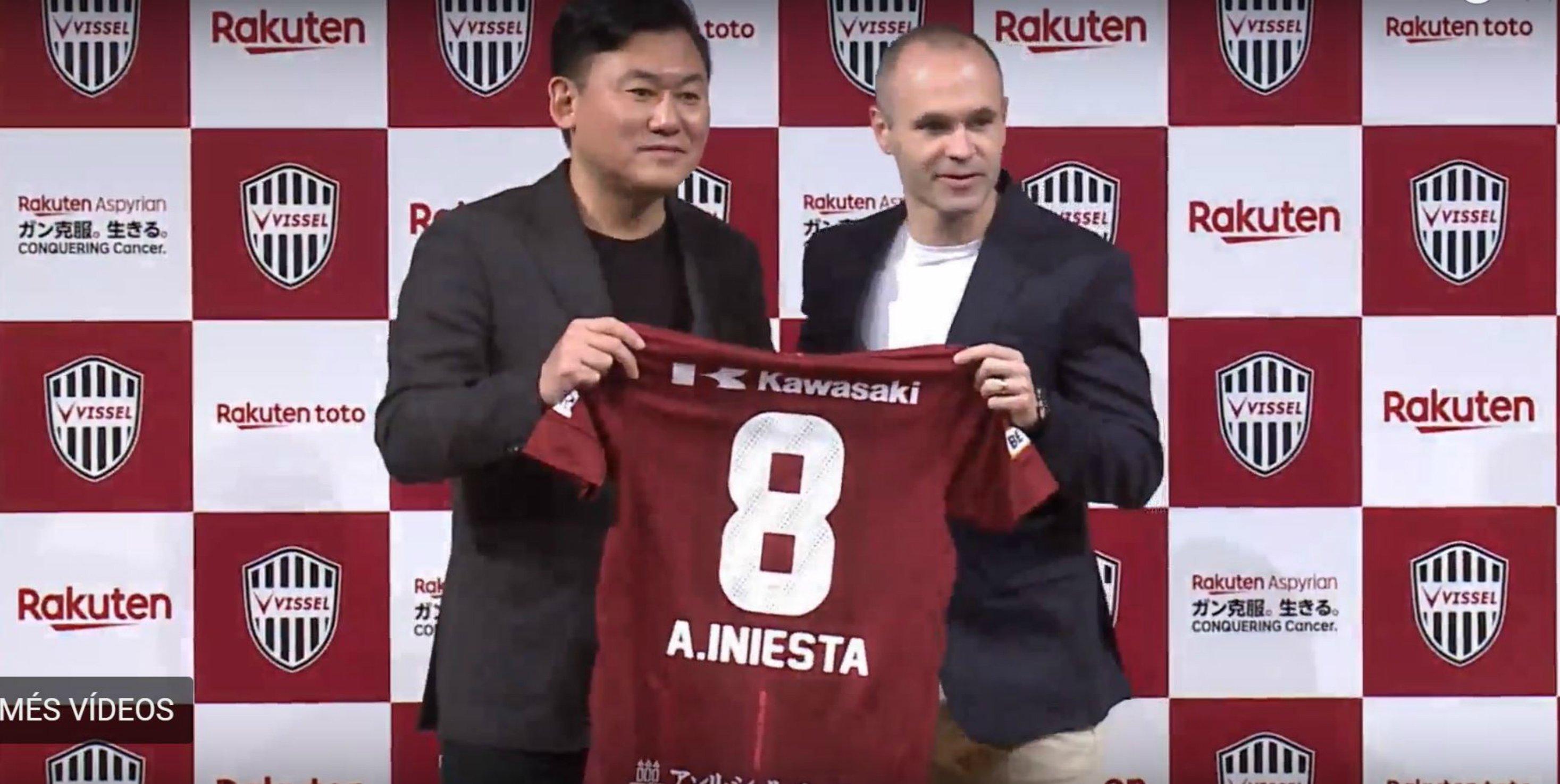 Andres Iniesta Vissel Kobe   Captura pantalla