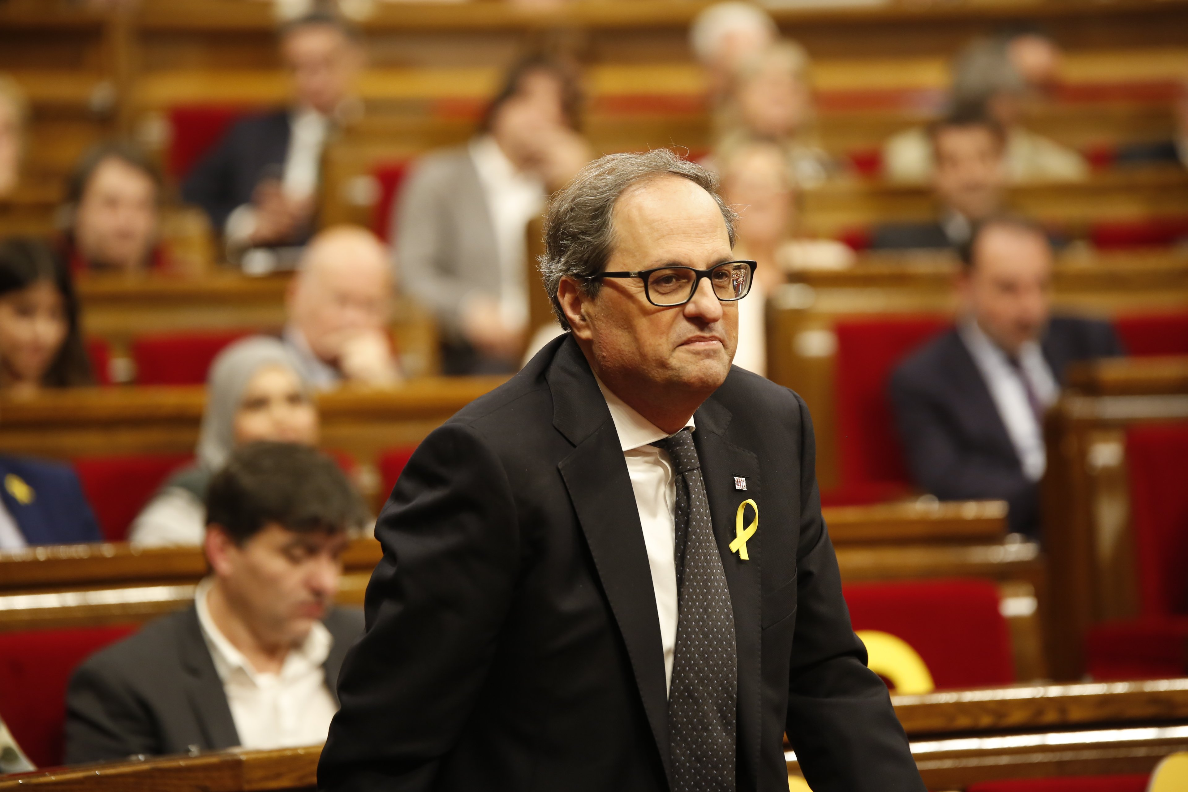 Quim Torra Hemicicle Parlament  - Sergi Alcàzar