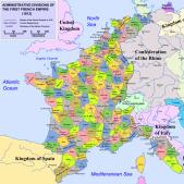 Test 12. Mapa del Primer Imperi francès (1812 1814). Font Arxiu d'El Nacional.