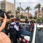 unionista platja mataró cotxe mossos
