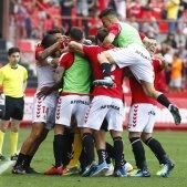 Nàstic pinya celebracio gol GIMNÀSTIC DE TARRAGONA