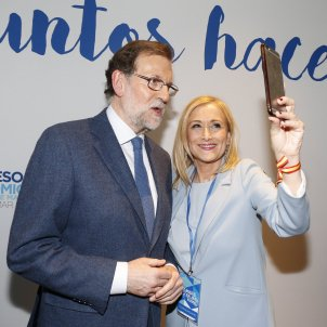 Mariano Rajoy Cristina Cifuentes Congreso Regional PP Madrid 17 març 2017