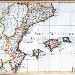 Paisos Catalans penínsulars. Primera representació cartogràfica. 1787