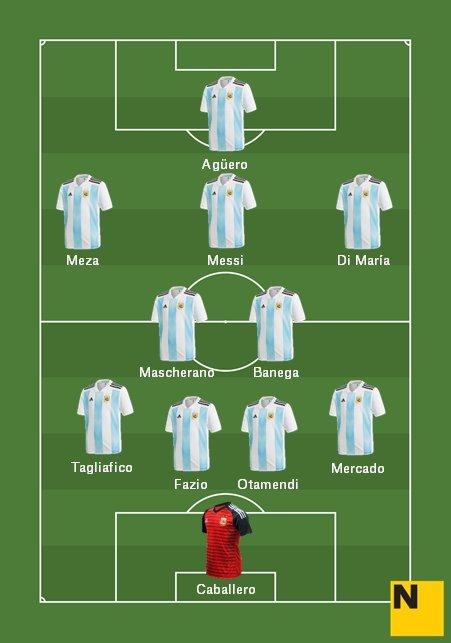 Alineació Selecció Argentina Mundial 2018