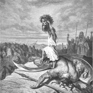 David mata a Goliat