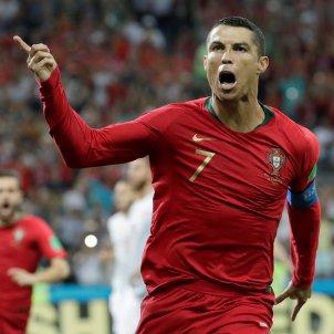 Cristiano Ronaldo celebracio gol Portgual Espanya  EFE