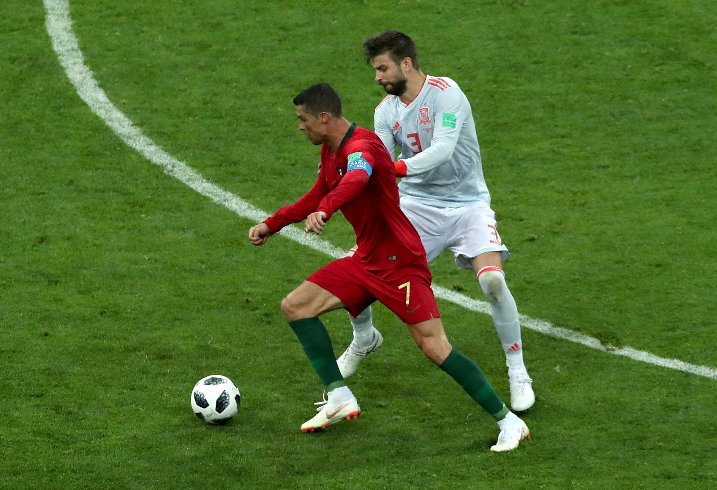 Piqué Cristiano Ronaldo Espanya Portugal Mundial EFE