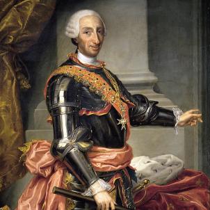 Retrat de Carles III. Obra de Andrés de la Calleja (1777). Font Museo de Bellas Artes de San Fernando. Madrid