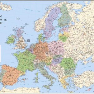 Mapa Europa The National OK