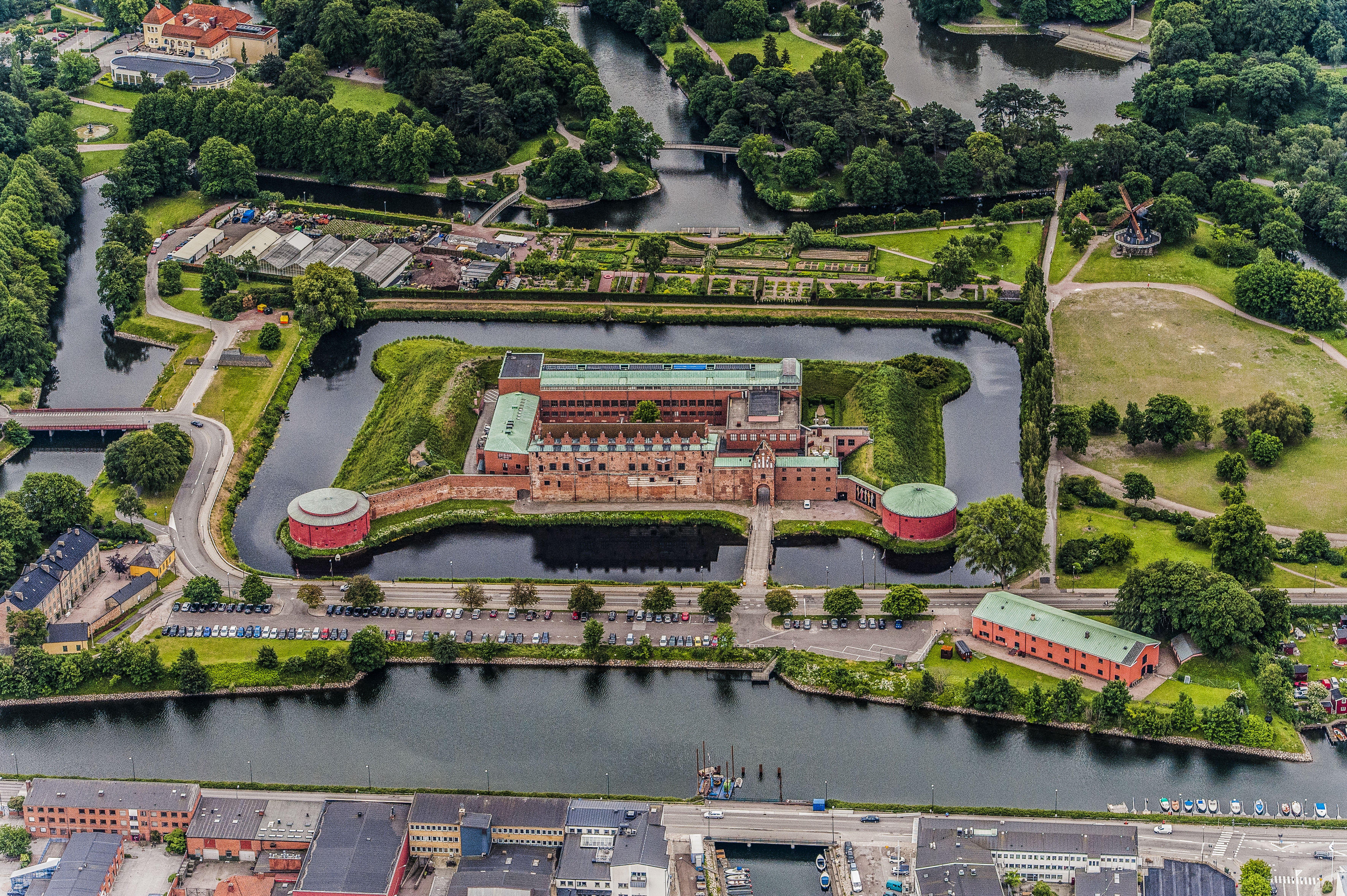 Malmöhus slott från luften
