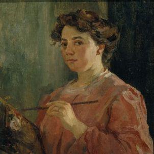 lluisa vidal autorretrat. c. 1899. museus Dia Dona. MNAC