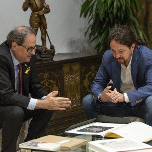 Quim Torra Pablo Iglesias - Sergi Alcàzar
