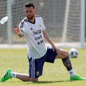 Leo Messi entrenament Argentina Mundial Rússia   EFE