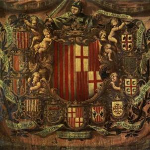 Apotèosi Heràldica (1681). Font Museu d'Història de la Ciutat de Barcelona.