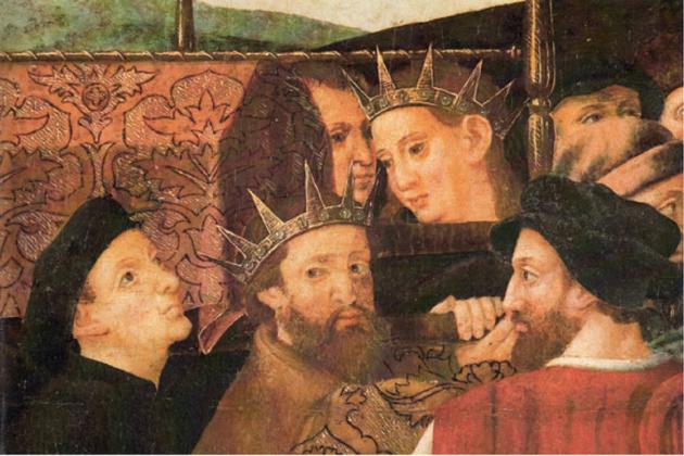 Martí l'humà i Martí el Jove. Retaule obra de Pere Nunyes i Enric Fernandez(segle XVI). Font Museu Diocesà de Barcelona