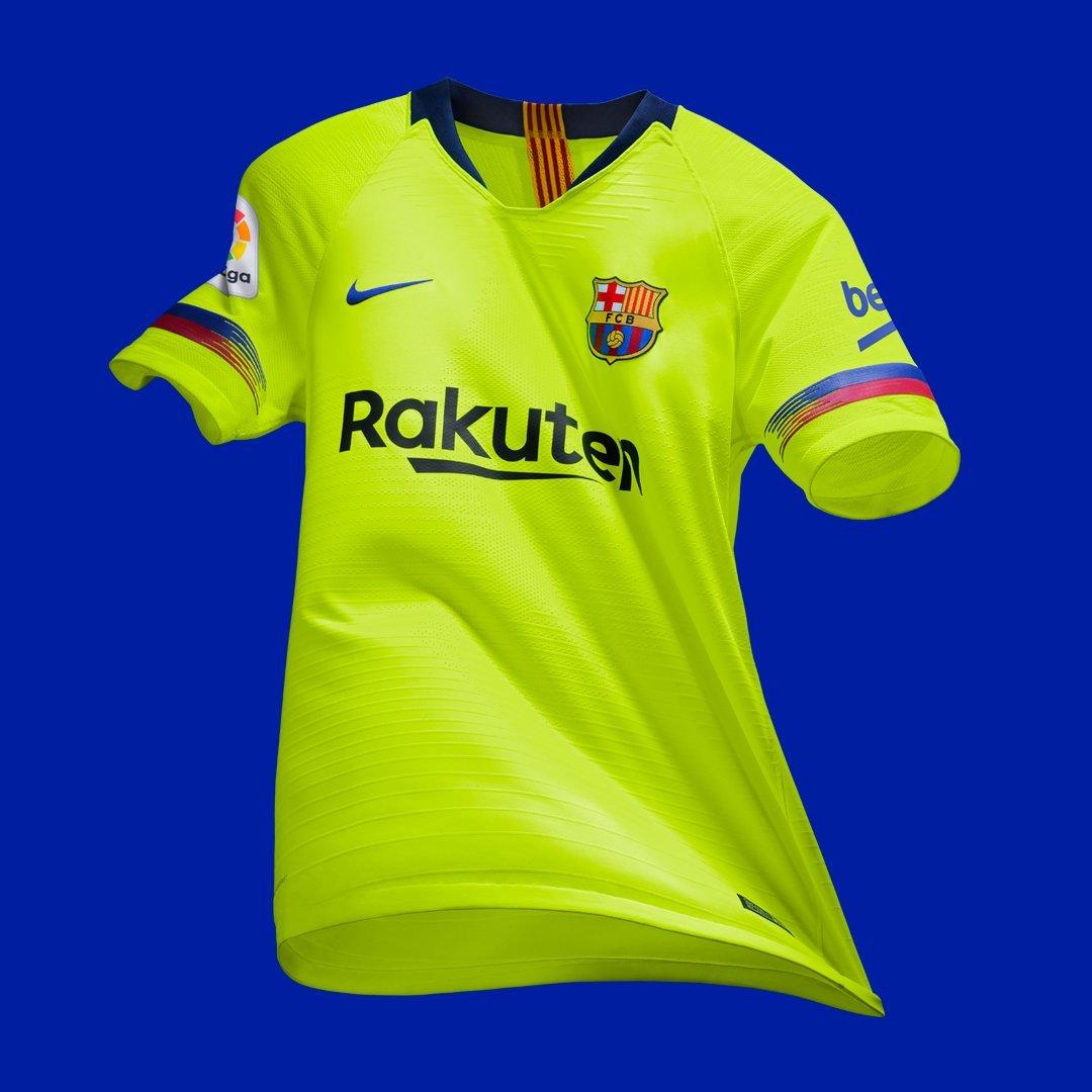 La segona samarreta del Barça recupera el groc fluorescent 82daa68c68e