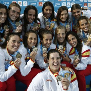 Selecció espanyola femenina Espanya Waterpolo Jocs Mediterranis Efe