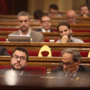 Aragonès i Torra sessió control parlament carles palacio