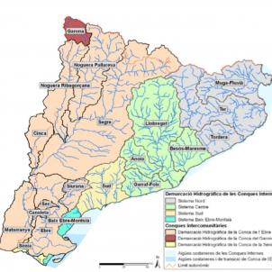 Test 2. Els rius de Catalunya. Mapa Hidrografic de Catalunya. Font Agència Catalana de l'Aigua