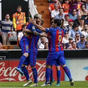 Gol pinya Barça València Efe