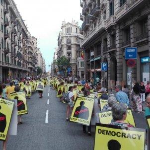 manifestació Via Laietana Alberto Noriega