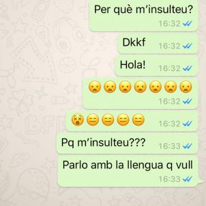 conversa whatsapp Gisela Rodríguez