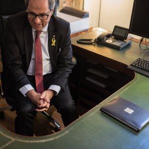 quim torra president generalitat catalunya seguiment escriptori companys - Carles Palacio