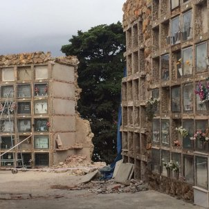 esfondrament nínxols cementiri Montjuïc