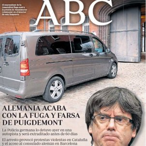 Portada ABC 26/03/2017