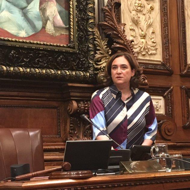Ada Colau Ple Extraordinari Retallades. Gisela Rodríguez