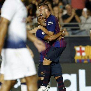 Arthur Barça gol Tottenham Rafinha gira   FCB