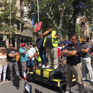 assemblea taxi serveis mínims. Gisela Rodríguez