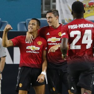 Alexis Sánchez gol Manchester United Reial Madrid   EFE