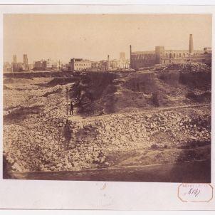 Frank. Barcelona, demolició de les muralles, 1855. BNF.