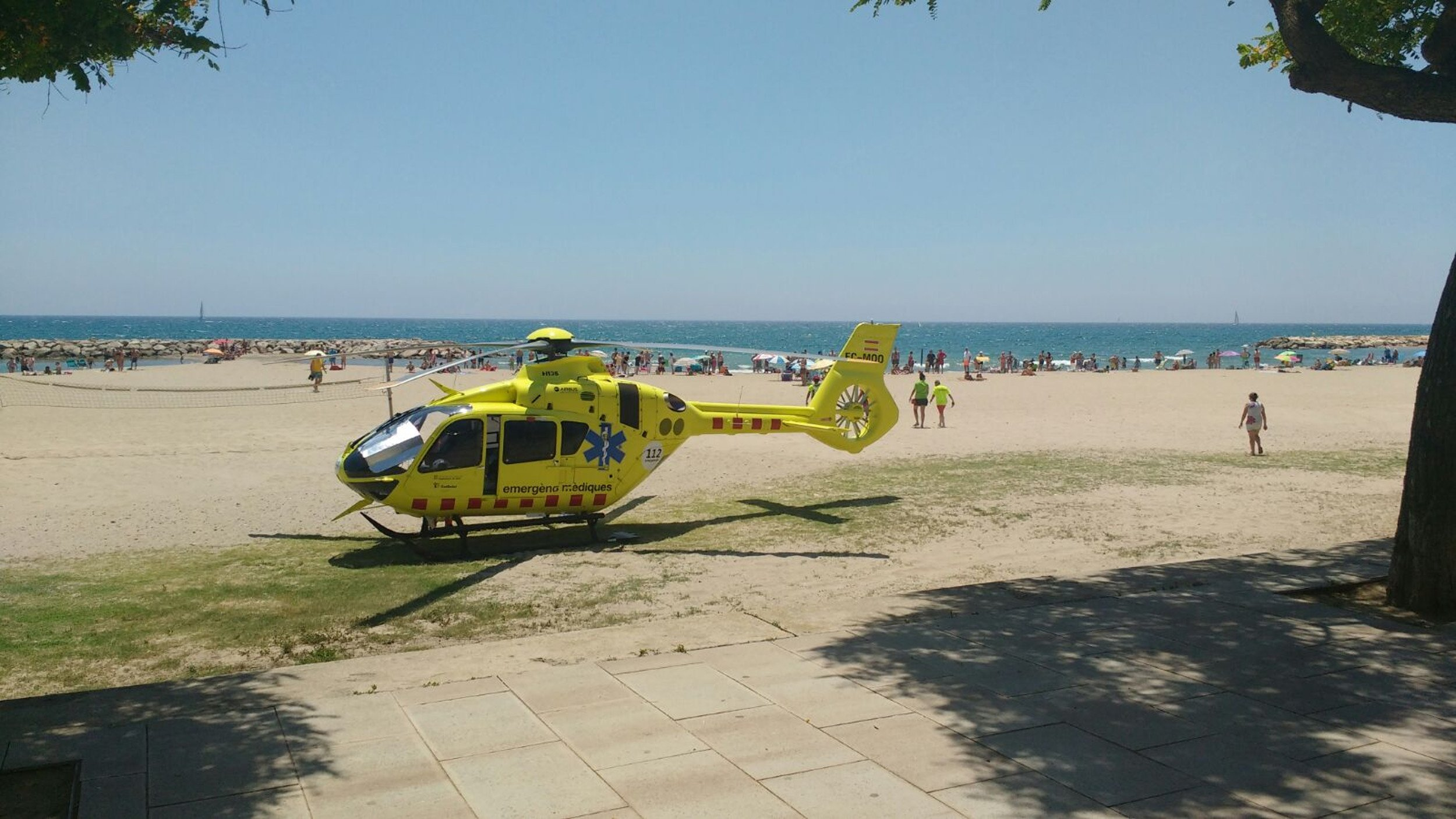 platja cambrils helicopter ACN