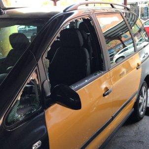 Atac als taxistes de Barcelona 8 Agost