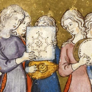Test 19. Els jueus a Catalunya. Representació de l'Hagadą Daurada (1320). Font CCCB