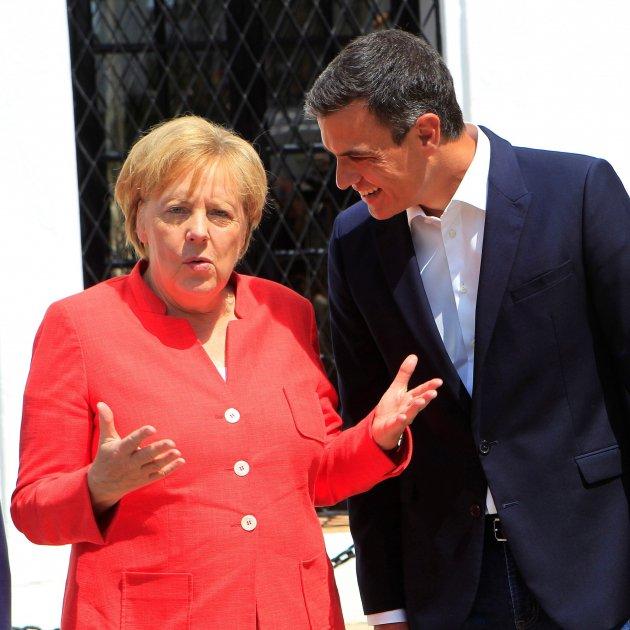 Sánchez Merkel - EFE