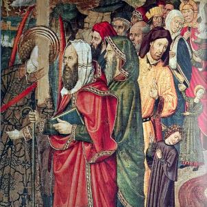 Representació coetània de la comunitat jueva barcelonina.  Font Viquipèdia