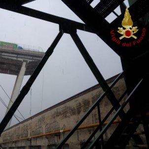 pont genova foto vigili del fuoco