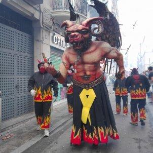 festa major gràcia diable llaç groc presos polítics jaume costal