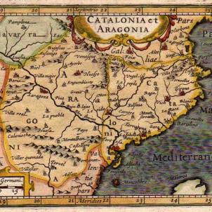 Mapa de Catalunya i Aragó (1603). Font National Library of New Zeland