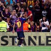 Messi guia l'estrena del Barça amb rècord (3-0)