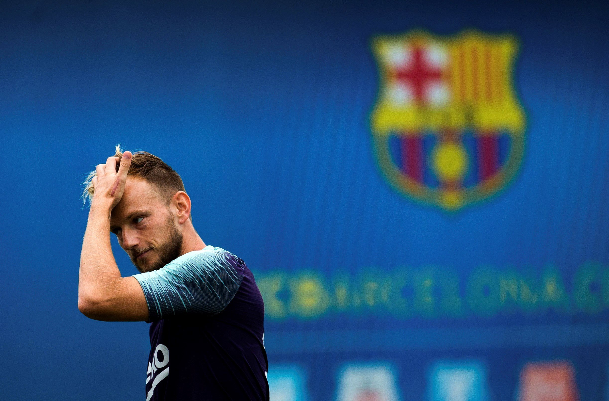 Rakitic entrenament Barça EFE