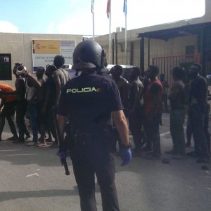 immigrants ceuta  ceti policia Efe