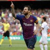 Messi celebració gol Barça Osca   EFE