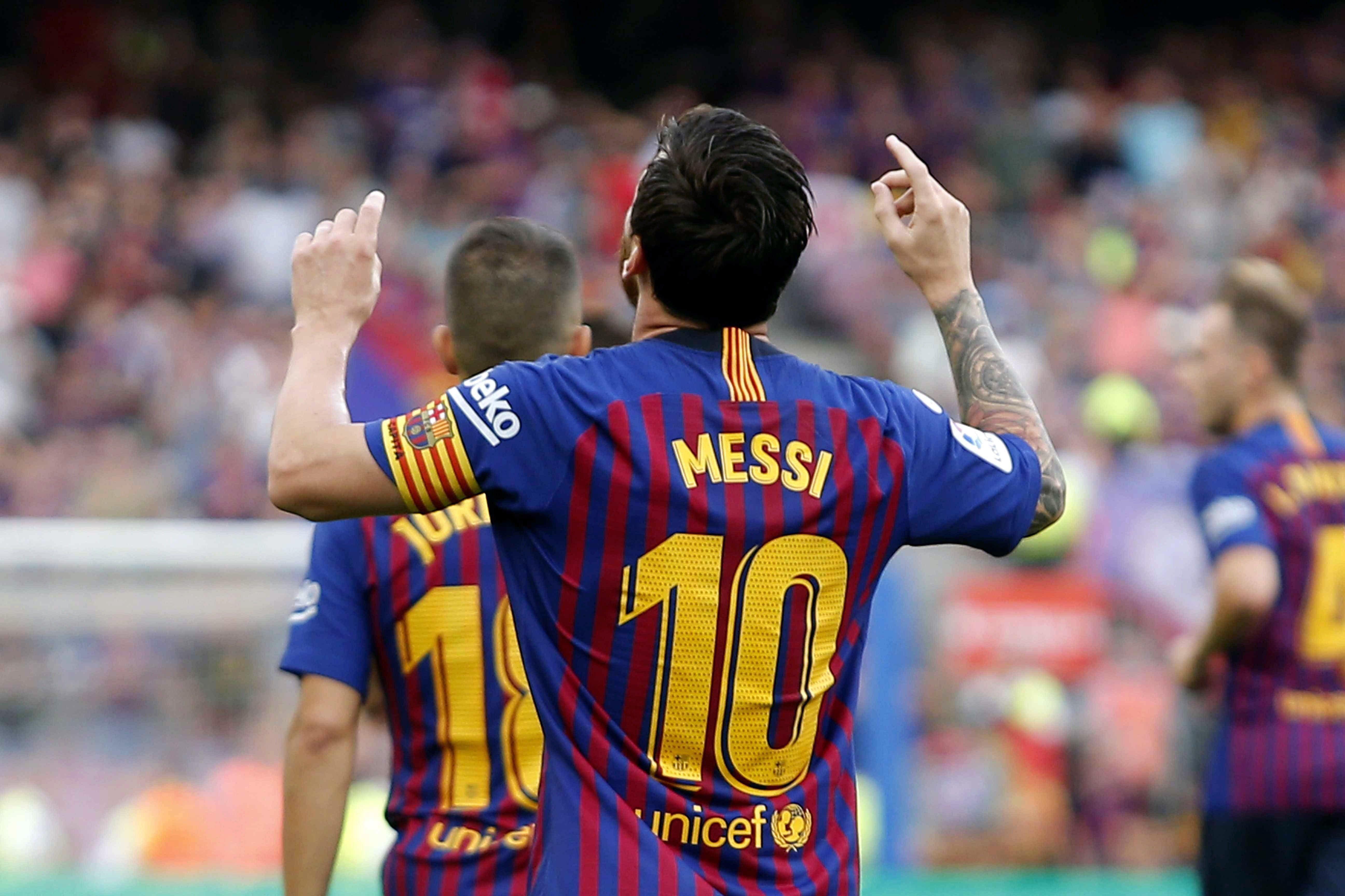 Messi celebració gol Barça Osca   EFE (2)
