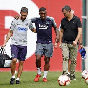 Malcom lesió entrenament Barça FC Barcelona